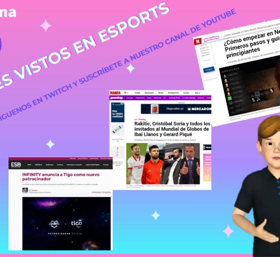 Programa 25 de #ValientesVistosEnEsports a través de webs y redes sociales el 04/10/2021